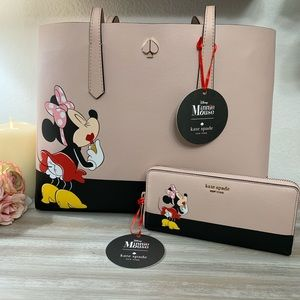 Disney Kate Spade Minnie Tote Set